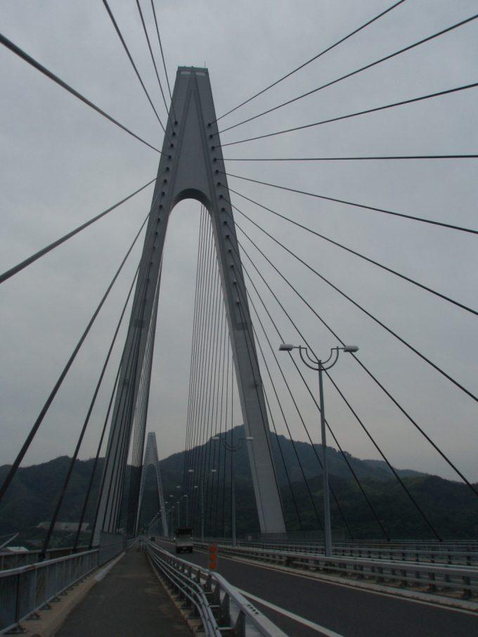 生口橋の美しいケーブル