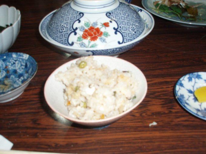 サラサヤ旅館鯛の炊き込みご飯