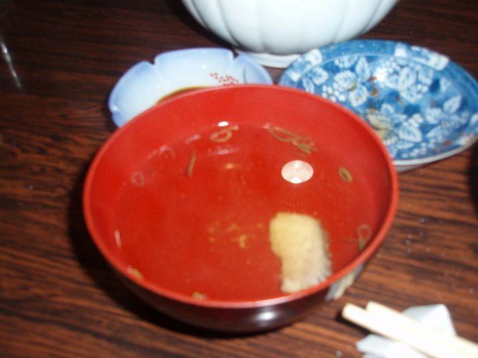 サラサヤ旅館鯛のお吸い物