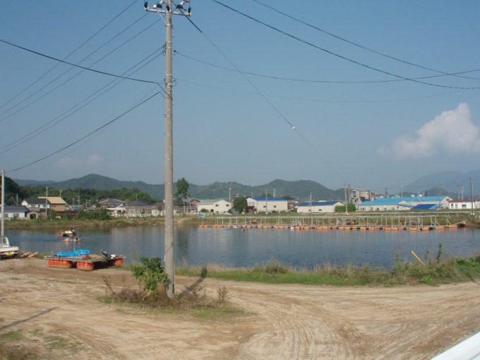伯方島車えび養殖池(旧塩田跡)