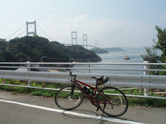 世界初3連吊橋来島海峡大橋