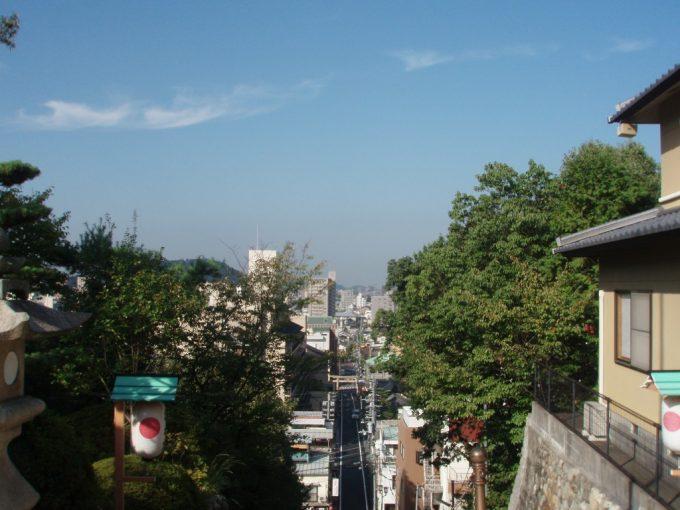 伊佐爾波神社石段上からの松山市街