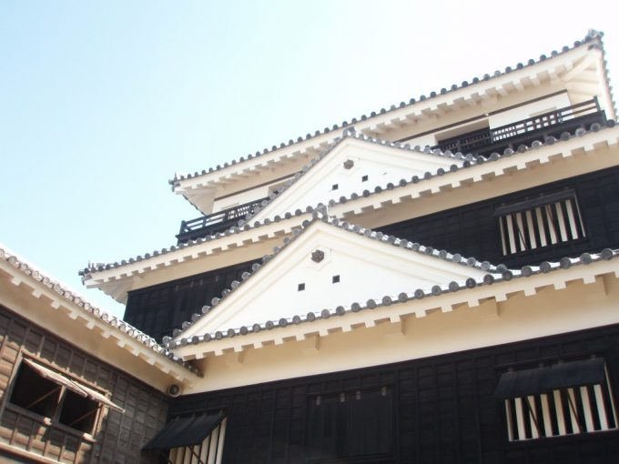大迫力の見上げる松山城