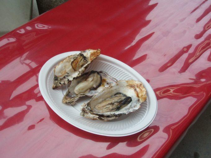 宮島の焼き牡蠣