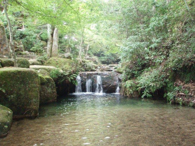宮島紅葉谷公園の清流