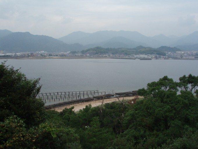 宮島のかき筏