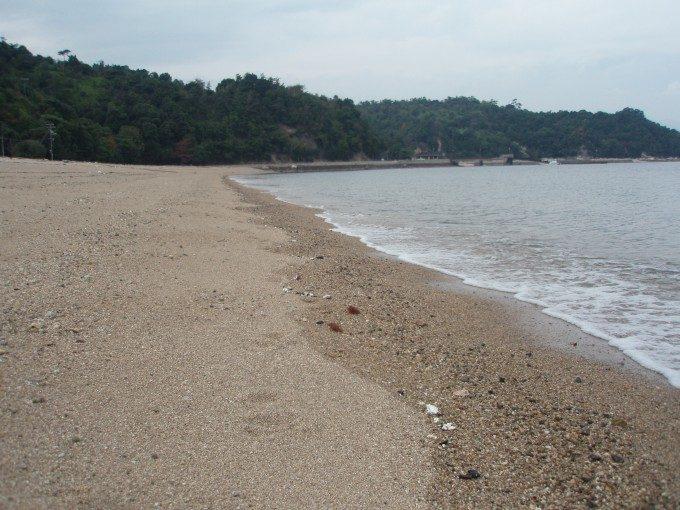 宮島包ヶ浦自然公園の波打ち際