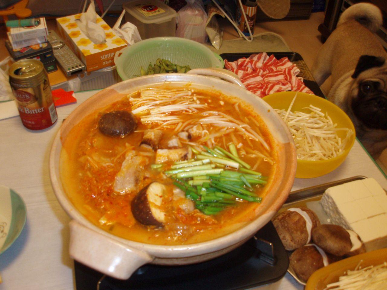 しまちゅう風みそキムチ鍋