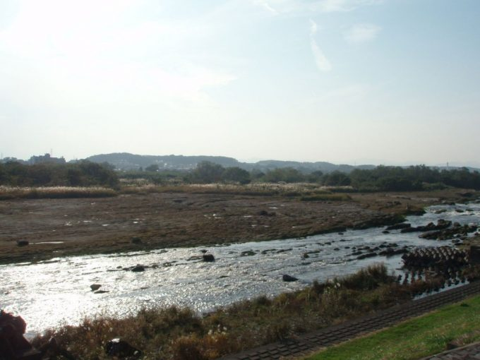 多摩川秋景色