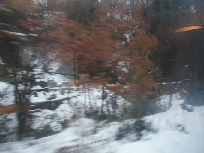 磐越西線雪と紅葉
