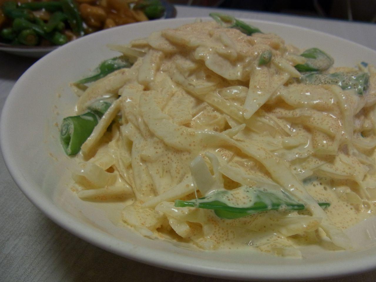 新玉ねぎの明太味噌マヨサラダ