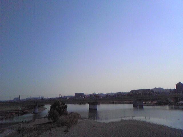 ラー博へ行く前の多摩川
