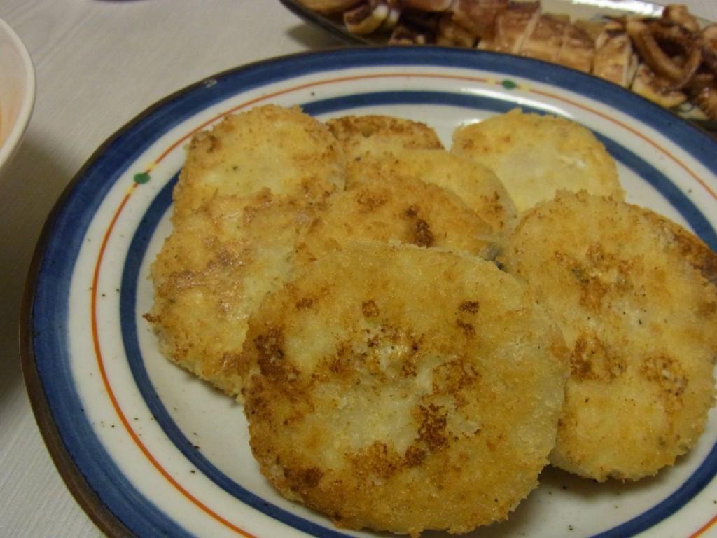 新れんこんのクリームチーズ詰め焼きフライ