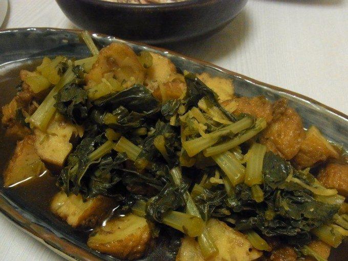 大根葉とさつま揚げの生姜煮