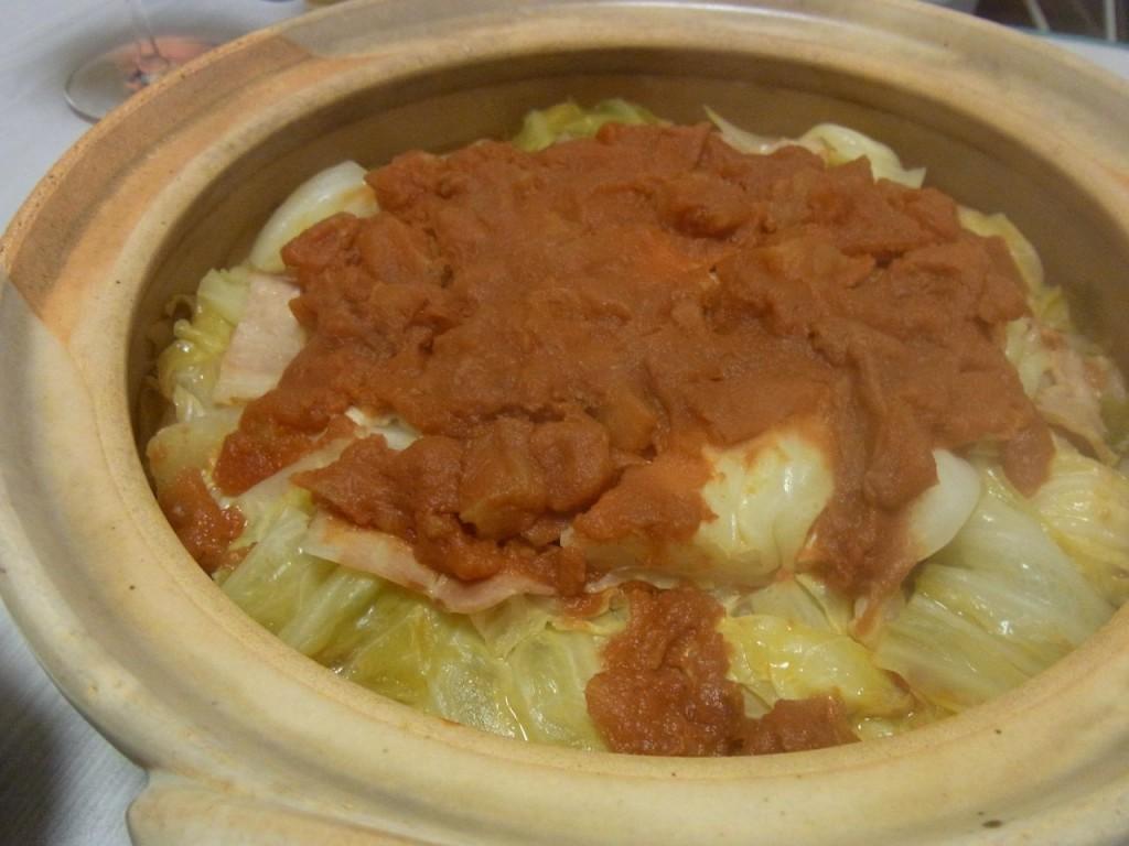 土鍋で巻かないロールキャベツ
