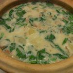 土鍋で春チャウダー・パストラミビーフとブルーベリーのサラダ
