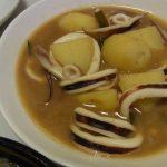 いかじゃがのにんにくバター味噌煮・砂肝と豆苗の中華炒め
