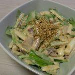 いかとうるいの生姜味噌マヨ和え・いかと長芋のわさび岩海苔和え