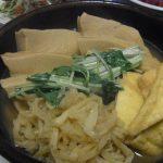おでんだし含め煮・青ねぎ塩豚豆腐・水菜コンビーフカレー炒め・豚とトマトのマリネ・菜の花と新玉の和風ツナサラダ・トマトとハムのクリチサラダ