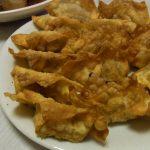 かつおのパリパリ揚げワンタン・かつおのにんにく味噌漬け焼き・里芋の中華風ピリ辛煮っころがし