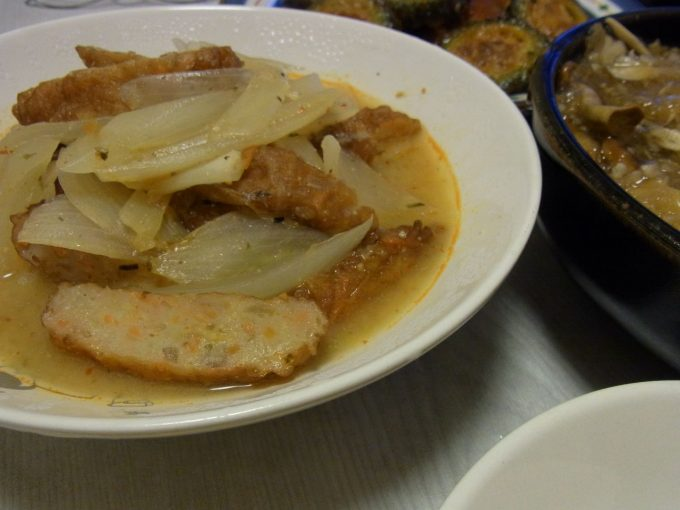 さつま揚げのラー油味噌煮
