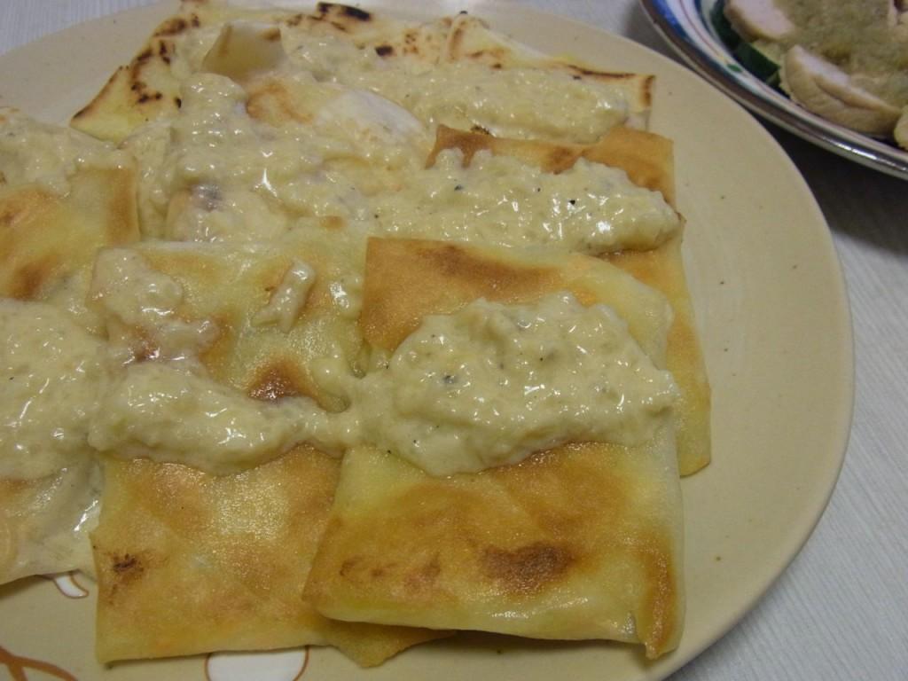 キタアカリとサーモンのパイ風包み焼き