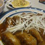 肉包みれんこんの甘酢あん・カレーマヨきんぴら・貝焼き味噌