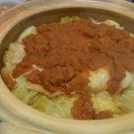 土鍋で巻かないロールキャベツ・マッシュルームのマスタードマヨ焼き