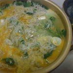 春野菜としらすの卵とじ・あさつきとささみのハーブバター炒め・味噌山椒ひじき