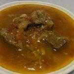 牛もも肉のあめ色玉ねぎ塩麹煮込み・ささみのしゃきしゃきマリネ