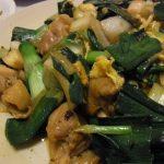 葉玉ねぎと鶏のオイスター炒め・かつおの中華風なめろう・カリカリじゃこのピリ辛厚揚げ