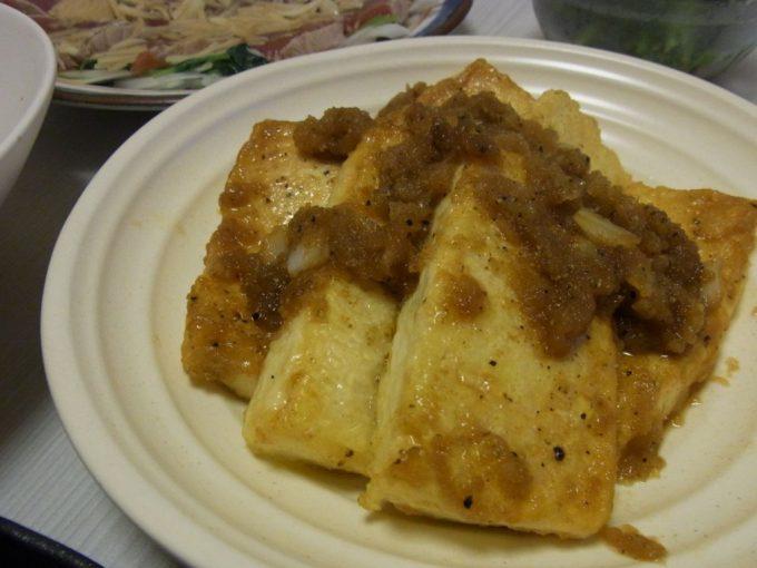 豆腐ステーキ和風オニオンソース