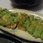 豚のずんだ味噌焼き・仙台油麩チャンプルー
