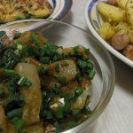 鯛のとろろ昆布〆・スパイスポテト・鶏ねぎ味噌玉子焼き