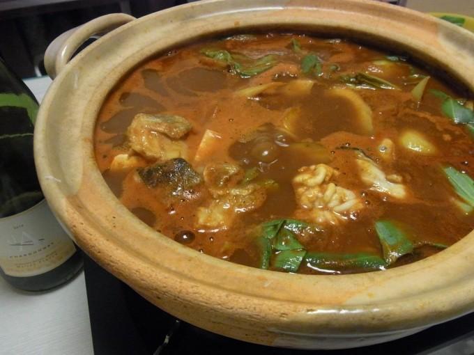 タラとかきの八丁トマト鍋