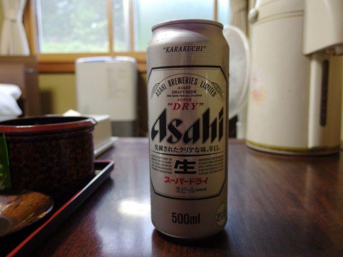 日本三秘湯谷地温泉湯上がりに冷えたビール