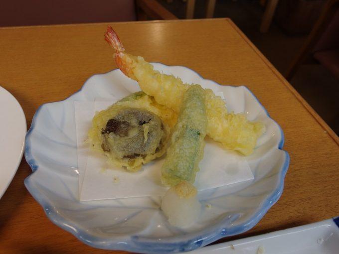 日本三秘湯谷地温泉天ぷら