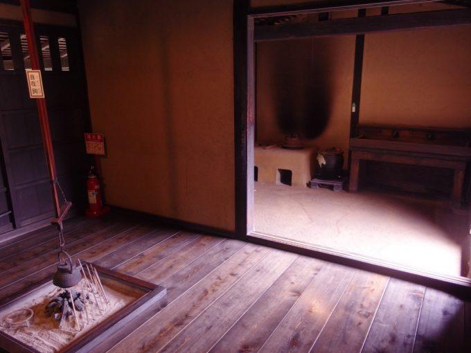 弘前武家屋敷旧岩田家住宅囲炉裏と土間