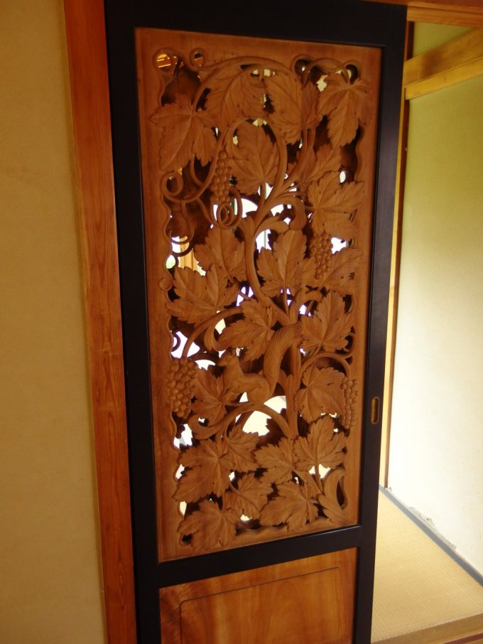 弘前藤田記念庭園透かし彫りの木戸