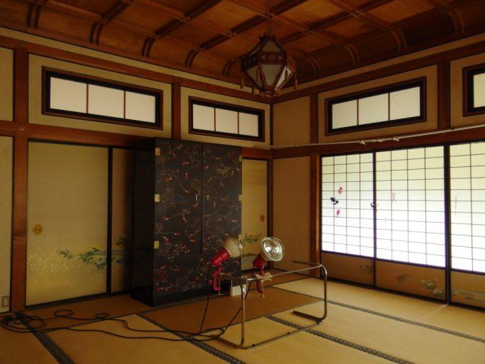 弘前藤田記念庭園見事な折り上げ格天井