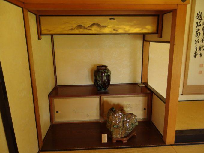 弘前藤田記念庭園和室の美しい富士