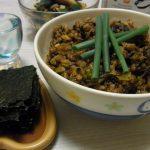 旨味たっぷり納豆高菜炒め・さんまの刺身ピリ辛ごま醤油・花椒香るたたききゅうり