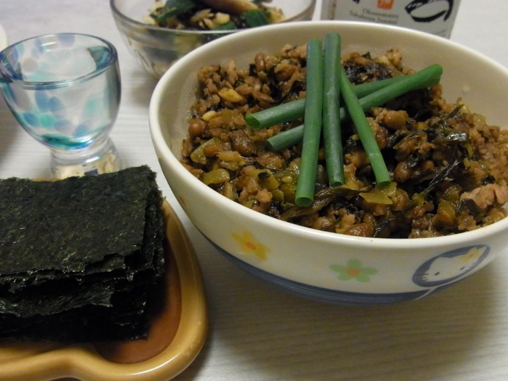 旨味たっぷり納豆高菜炒め