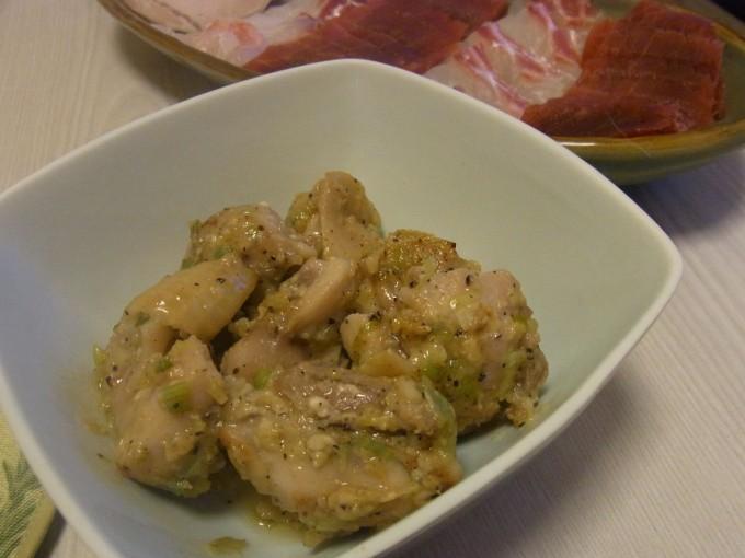 鶏のにんにくねぎ塩麹焼き