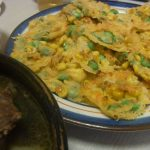 枝豆ととうきびのカリカリチーズ焼き・まんぷくいかのトマト煮込み・玉ねぎの明太おかか和え・玉ねぎとコンビーフのマスタードサラダ