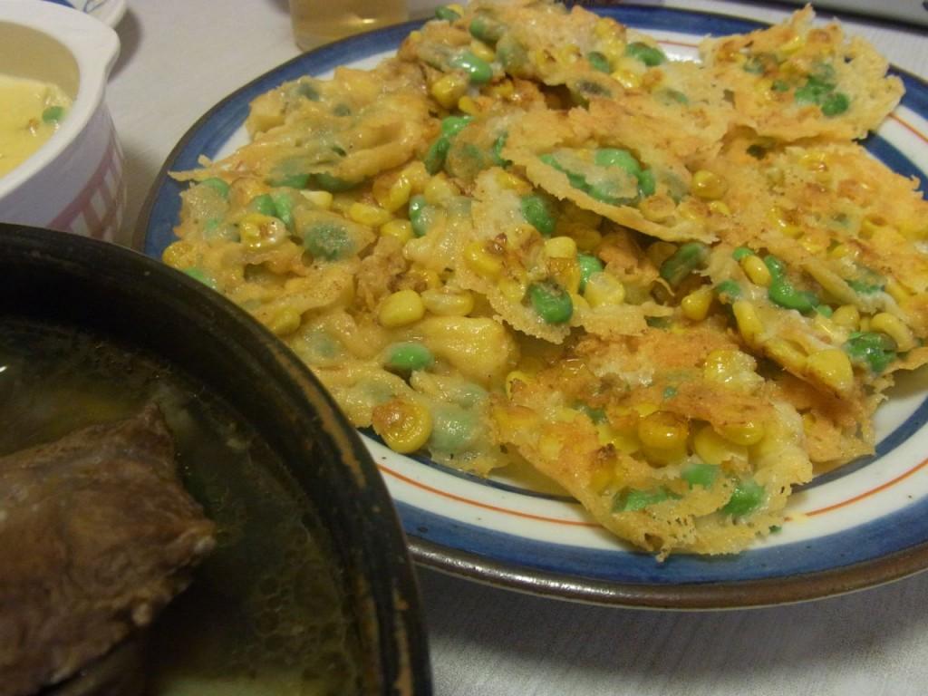 枝豆ととうきびのカリカリチーズ焼き