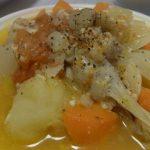 コンソメいらず塩麹ポトフ・レンズ豆とツナのシーザー風サラダ