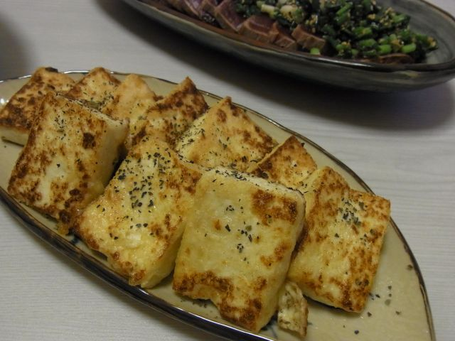 塩麹漬け豆腐ステーキ
