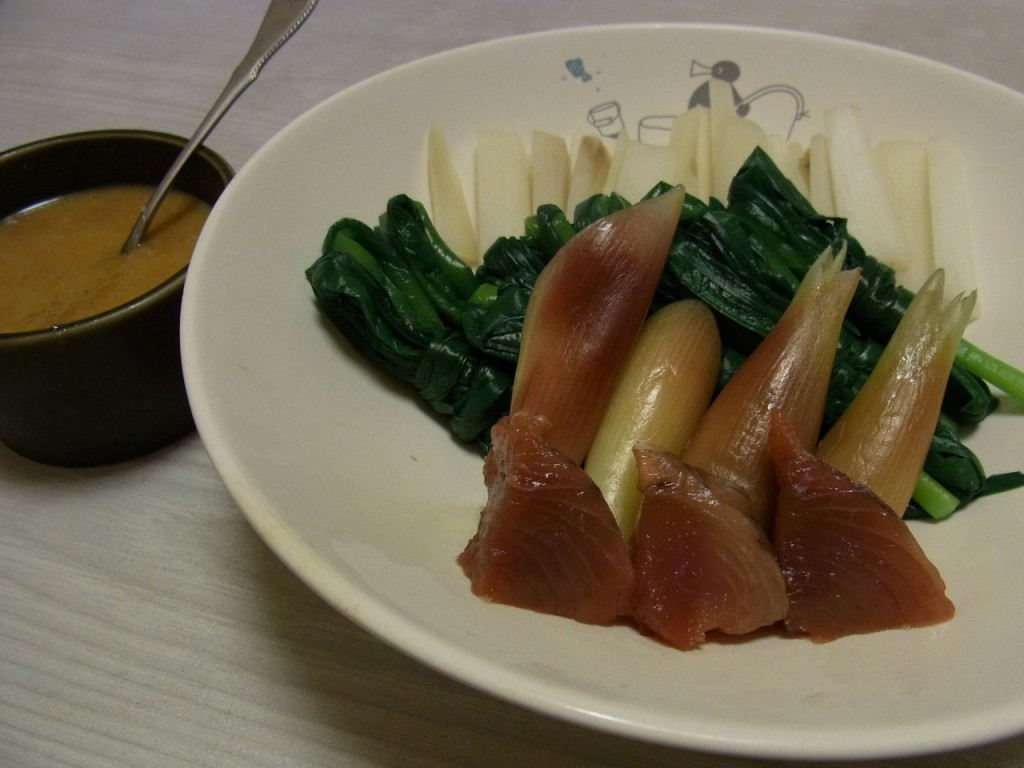 かつおと香り野菜のからし梅味噌