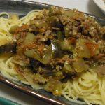 夏野菜のラタトゥイユ風塩麹ミートスパ